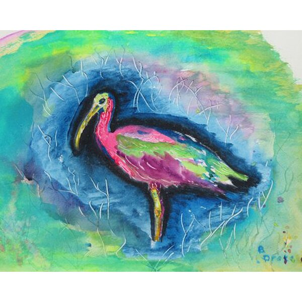 Glossy Ibis Placemat (Set of 4) by Betsy Drake Interiors