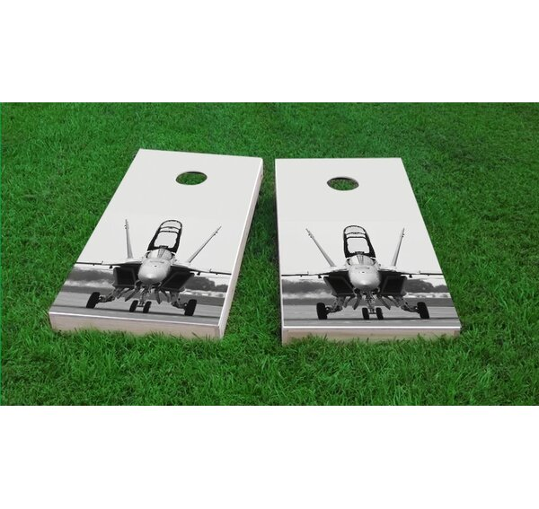 F-18 Hornet Fighter Jet Light Weight Cornhole Game Set by Custom Cornhole Boards