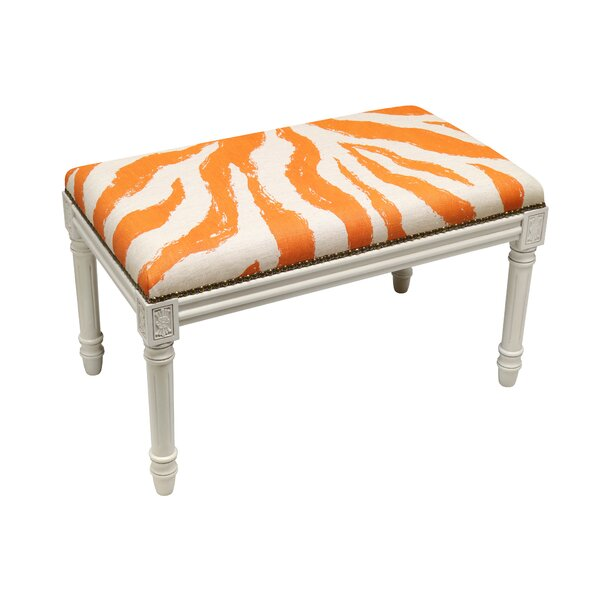 Niccolo Upholstered and Wood Bench by World Menagerie World Menagerie