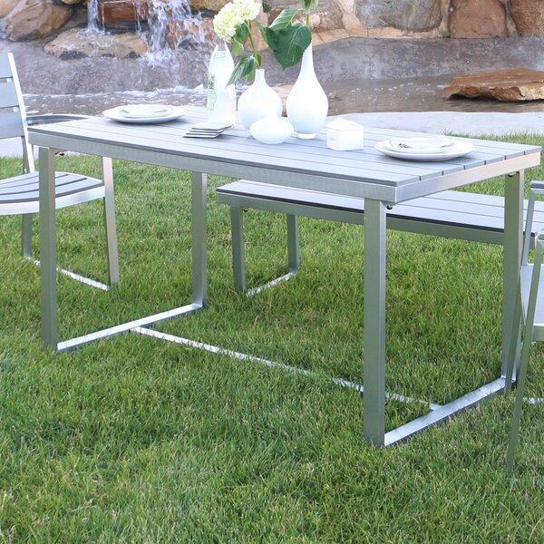 Salvatore Grey Patio Table by Wade Logan