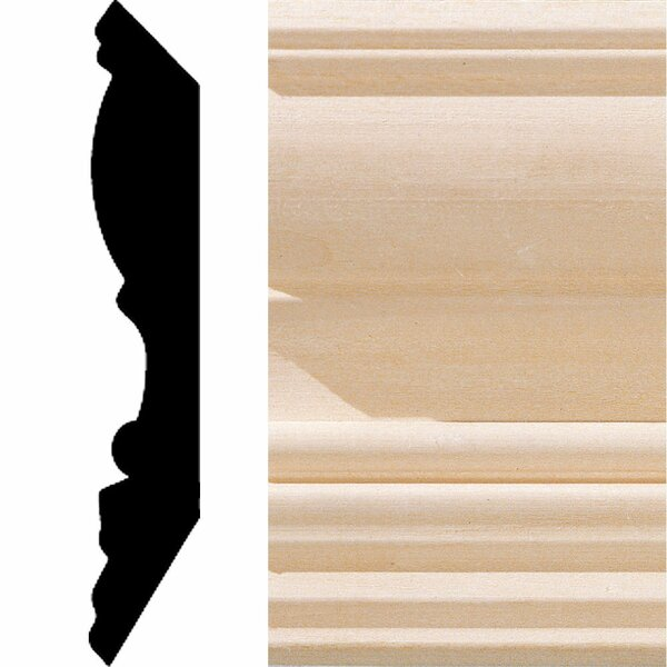 3/4 in. x 4-1/2 in. x 8 ft. Hardwood Crown Moulding by Manor House