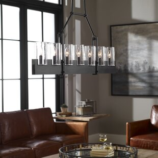 Searching for Raelynn Island Linear 7 -Light LED Cylinder Pendant By Gracie Oaks