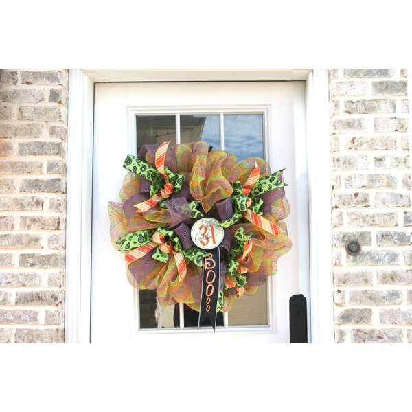 Snap Draggon Booo 27 Wreath by The Holiday Aisle