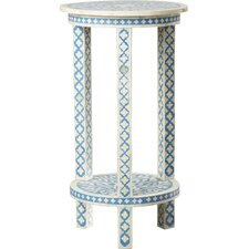 Brock Traditional Bone Inlay End Table by Mistana