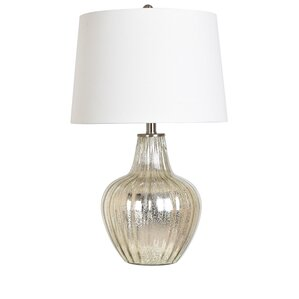 """Agatie Glass and Metal 25"""" Table Lamp"""
