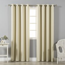 Charming Solid Blackout Thermal Grommet Curtain Panels (Set Of 2)