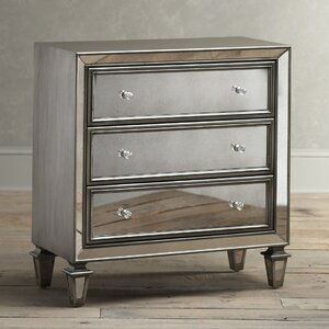 Modern & Contemporary Mirrored Nightstand Chest