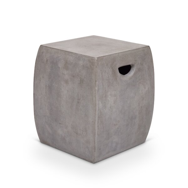 Lorna Cast Concrete Garden Stool by Greyleigh