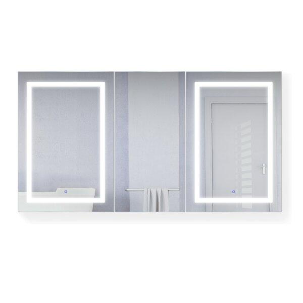 Vandenberg 66 x 36 Recessed or Surface Mount Medicine Cabinet with 6 Adjustable Shelves and LED Lighting