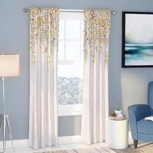 Modern Yellow Gold Curtains Drapes