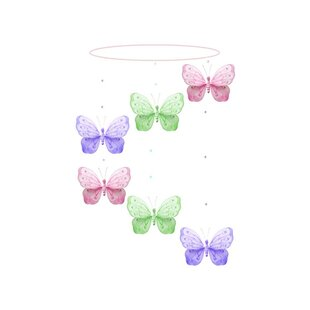 Price comparison Kristopher Butterfly Shimmer Spiral Nylon Hanging Mobile ByHarriet Bee