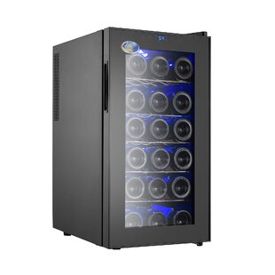 18 Bottle Thermoelectric Single Zone Freestanding Wine Cooler