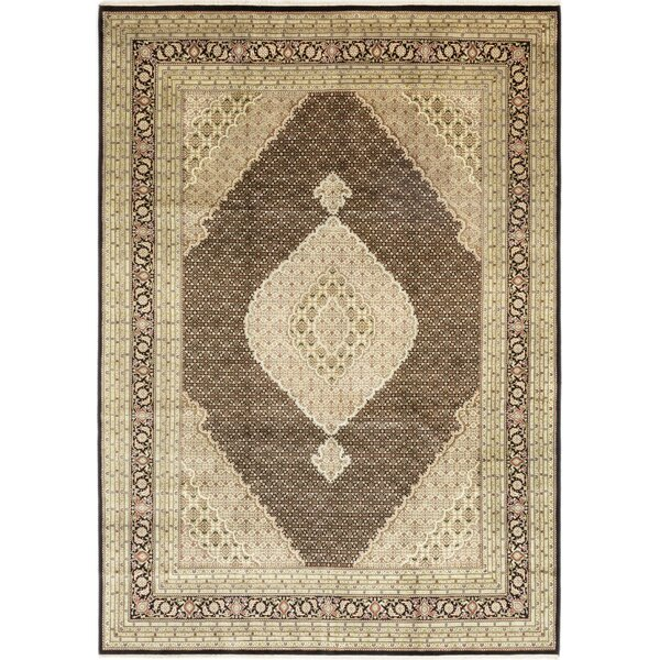 One-of-a-Kind Devante Hand-Knotted Wool Brown/Beige Indoor Area Rug by Isabelline
