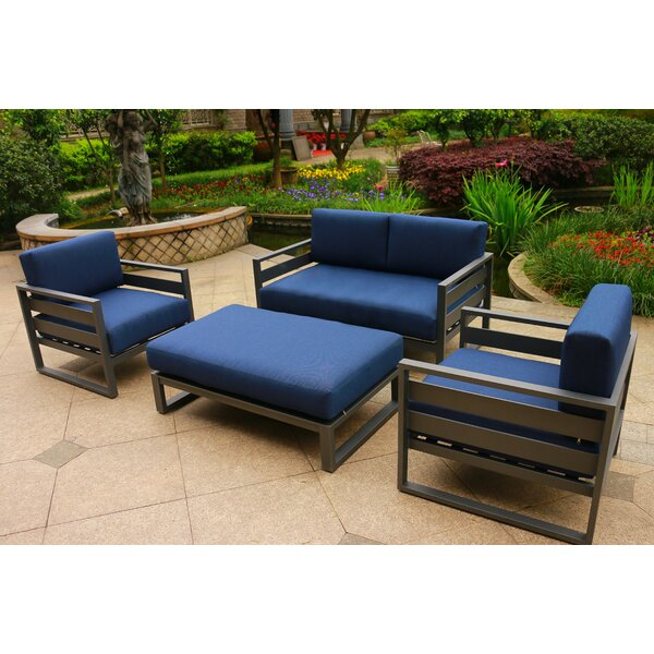 Hearne 4 Piece  Sofa Seating Group with Cushions by Orren Ellis