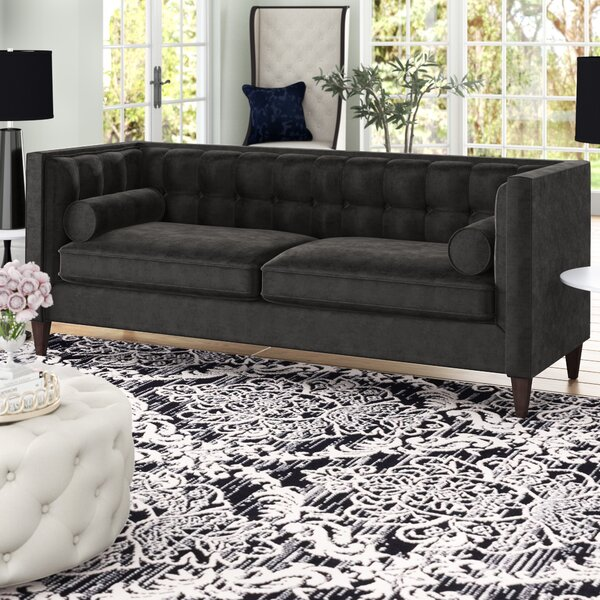 Good Quality Harcourt Tuxedo Chesterfield Sofa by Willa Arlo Interiors by Willa Arlo Interiors