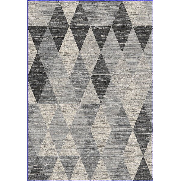 Eclipse 3D Modern Contemporary Gray Area Rug by Planet Rugs