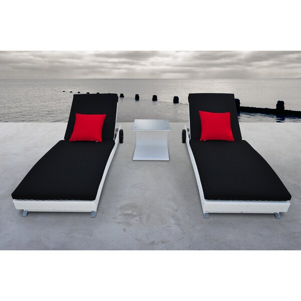 Zori Chaise Lounge Set with Cushions (Set of 3)