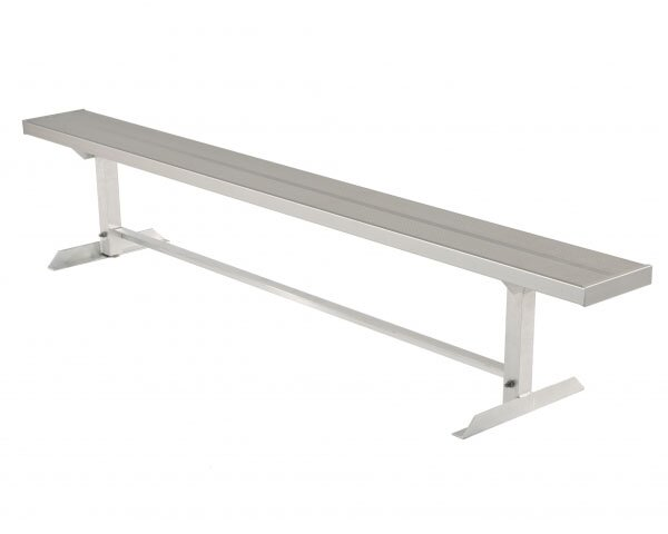 All-Aluminum Players Bench without Back - Portable by Highland Products