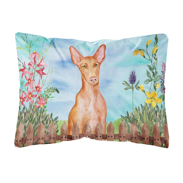 Sager Pharaoh Hound Spring Indoor/Outdoor Throw Pillow by Winston Porter