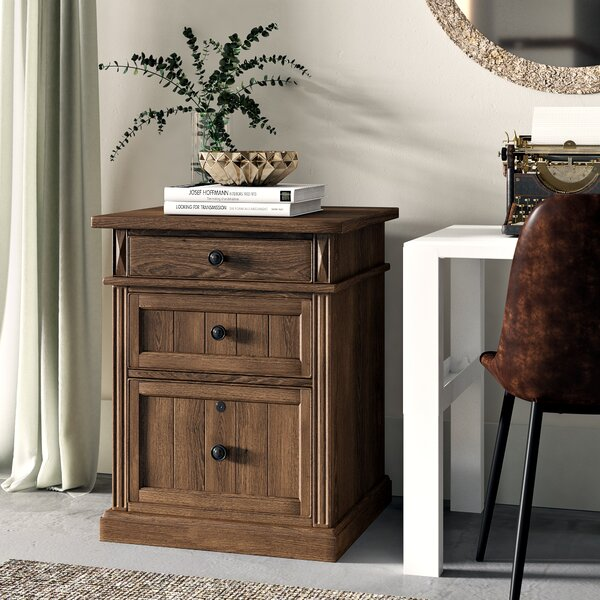 Idalou 3 Drawer Vertical Filing Cabinet by Greyleigh