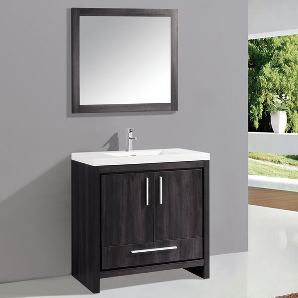 Peiffer 36 Single Sink Bathroom Vanity Set with Mirror by Orren Ellis