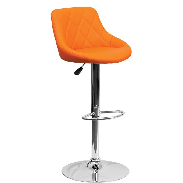 Thaddeus Adjustable Height Bar Stool by Orren Ellis