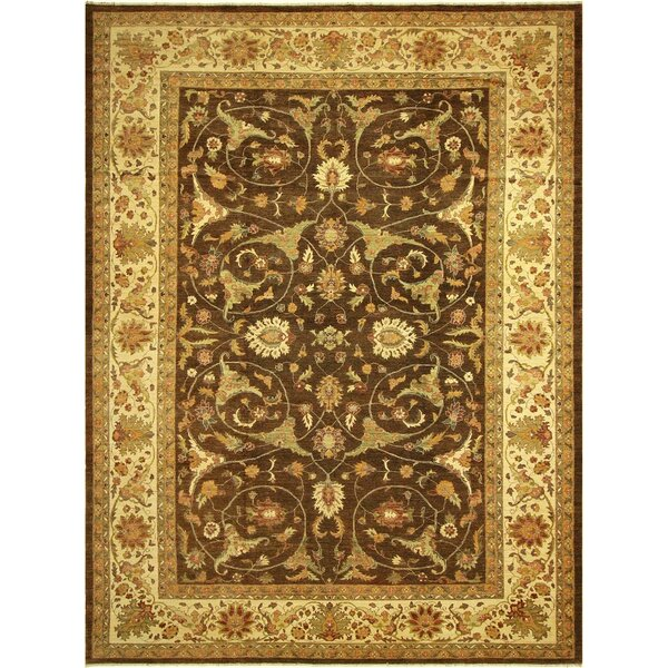 Annalee Hand-Knotted Wool Brown/Light Gold Area Rug