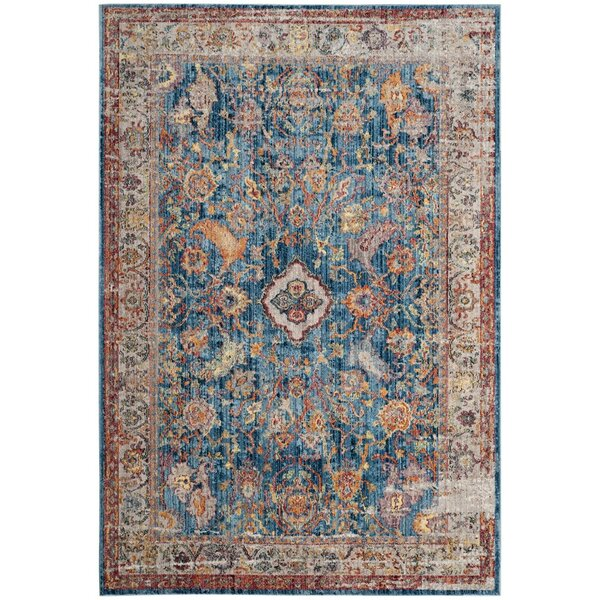 Amiens Blue Area Rug by World Menagerie