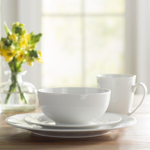 Wayfair Basics 16 Piece Porcelain Dinnerware Set, Service for 4 by Wayfair Basics™