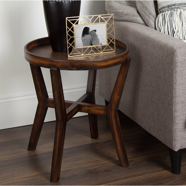 Madisyn Wood Accent End Table By Bungalow Rose