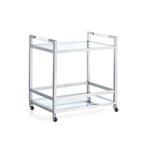 Zampa Acrylic Server Bar Cart by Orren Ellis