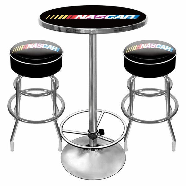 Bargain NASCAR Game Room 3 Piece Pub Table Set By Trademark Global Top Reviews