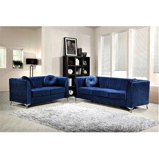Baney 2 Piece Standard Living Room Set by Mercer41 title=