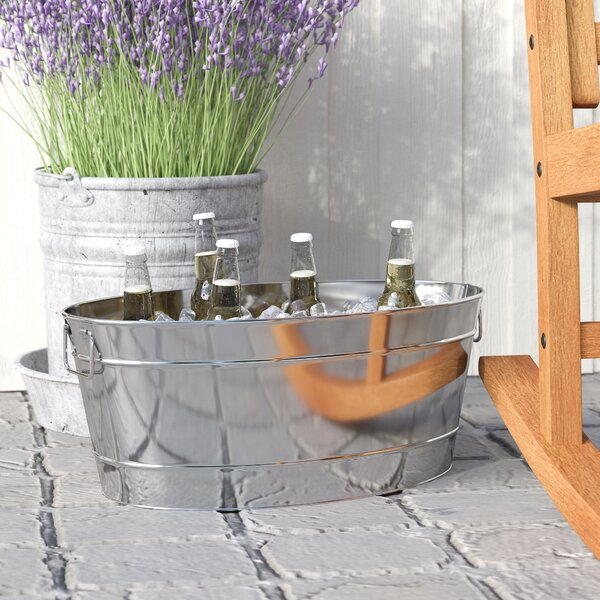 Cormiers Armored Stainless Steel Beverage Tub by Laurel Foundry Modern Farmhouse