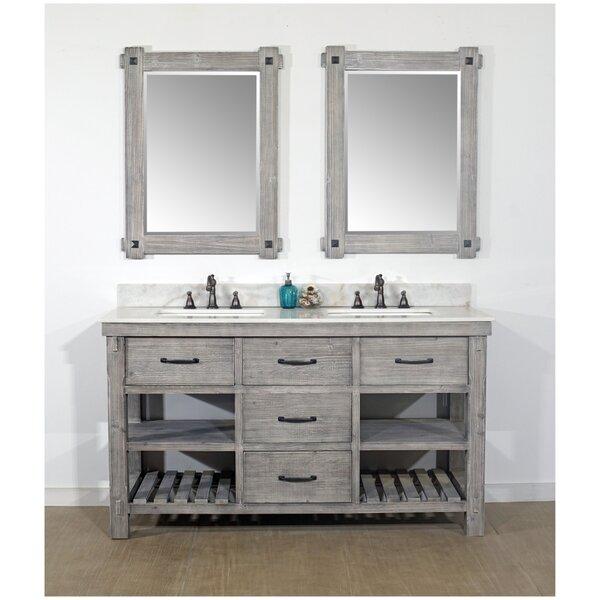 Vigil Rustic Solid Fir 60 Double Bathroom Vanity Set by Millwood Pines