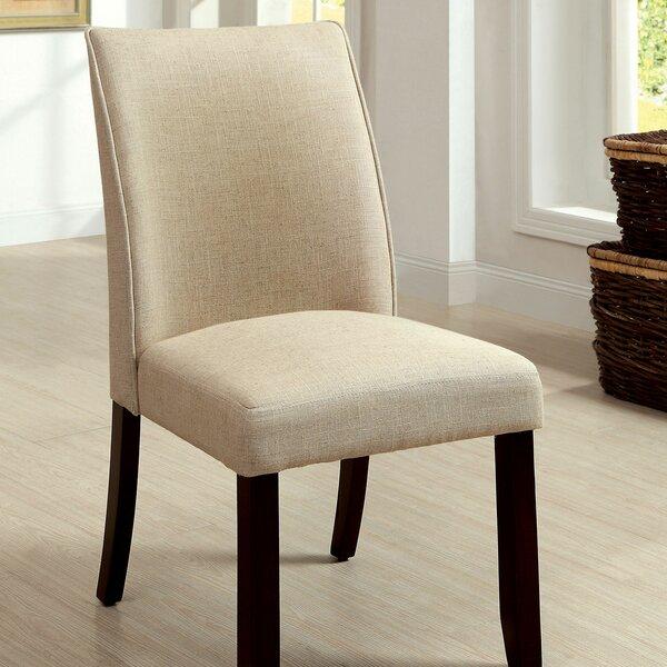 Kiro Linen Side Chair in Cream (Set of 2) by Alcott Hill Alcott Hill