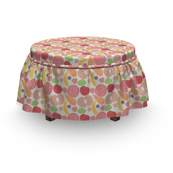 Healthy Snacks Vegetables Ottoman Slipcover (Set Of 2) By East Urban Home