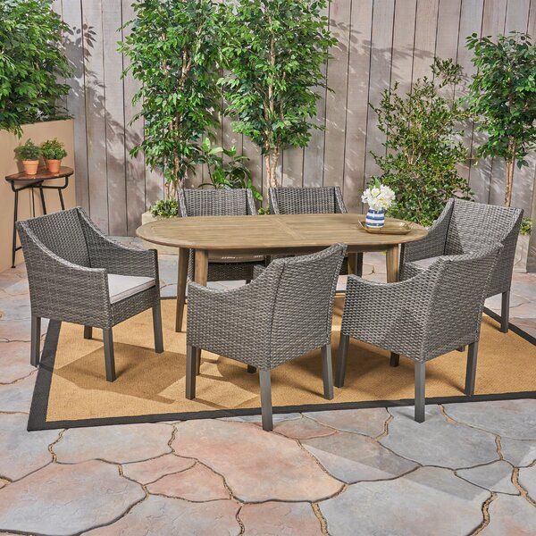 Hobdy 7 Piece Dining Set by Gracie Oaks