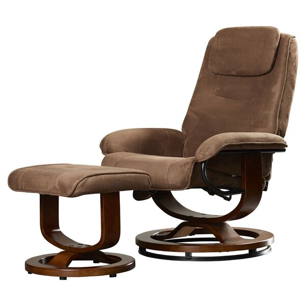 Reclining Heated Massage Chair With Ottoman By Charlton Home