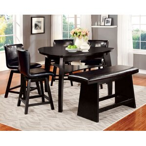 Lawrence 6 Piece Counter Height Pub Set by Hokku Designs