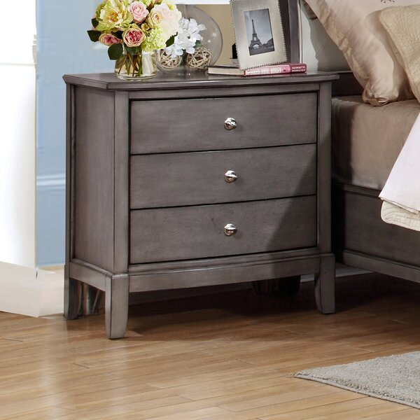 Tanya 3 Drawer Nightstand by Gracie Oaks