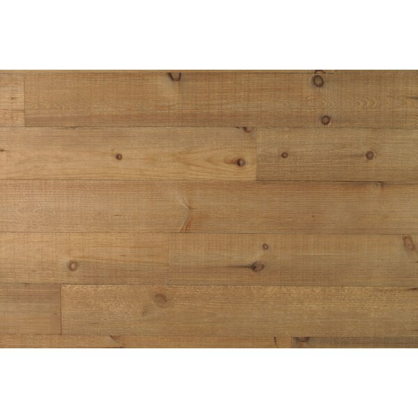 Wheat Harvest 5.5 Solid Wood Wall Paneling in Brown by New England Classic