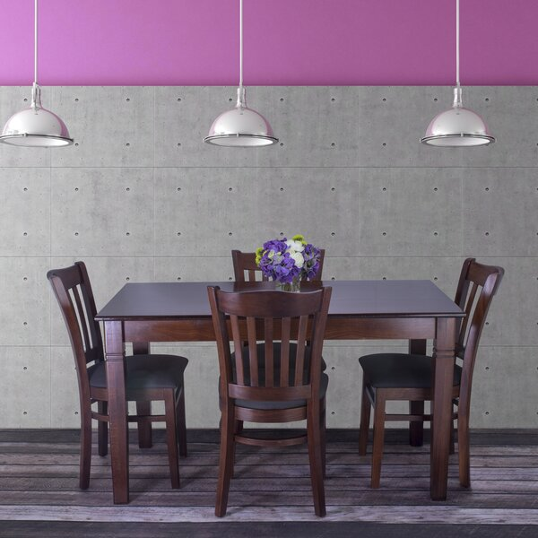 Gorney 5 Piece Solid Wood Dining Set by Red Barrel Studio