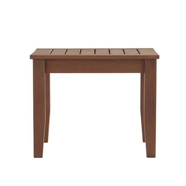 Brook Hollow Wood Side Table by Three Posts