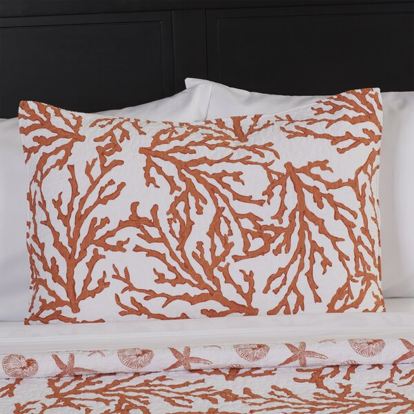 Cavender Cotton Single Standard Sham by Highland Dunes