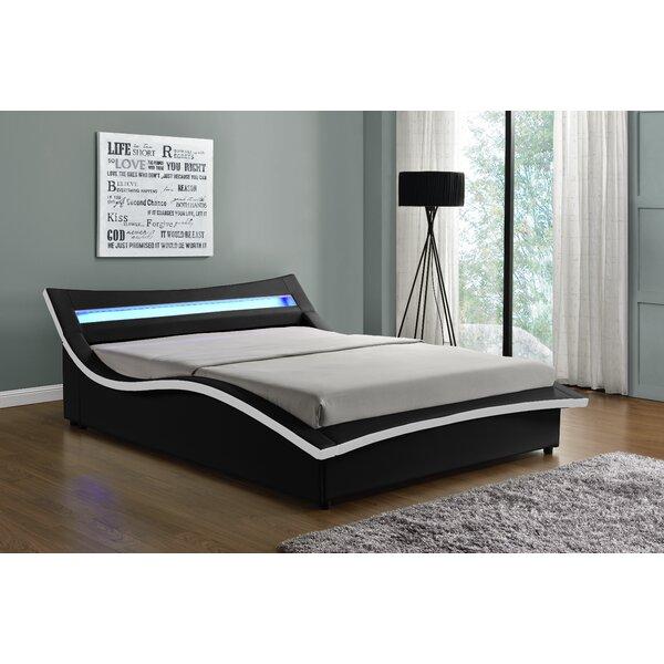 Saragosa Faux Leather Upholstered Storage Platform Bed by Orren Ellis