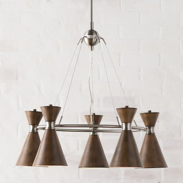 Ibsen 5-Light Shaded Chandelier by Langley Street