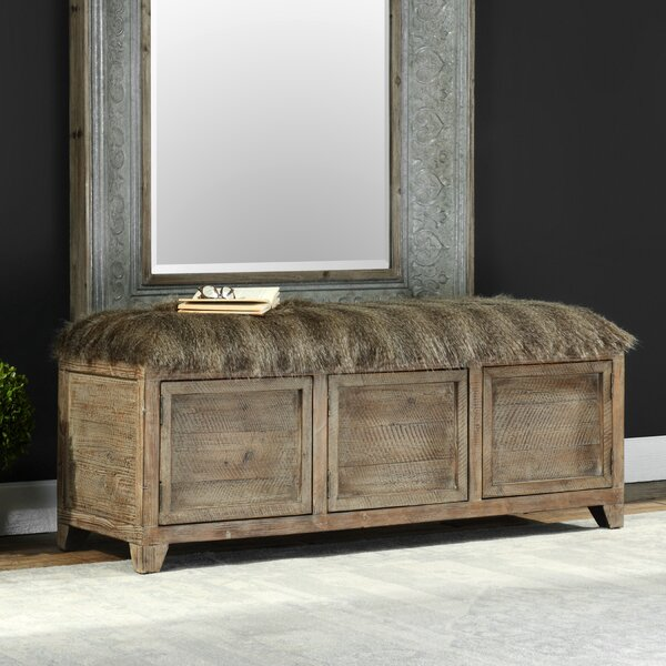 Simon Upholstered Storage Bench by Loon Peak