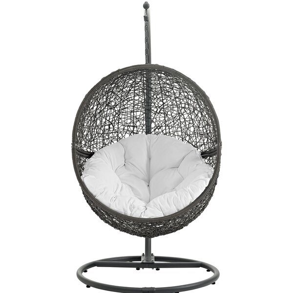 Hide Swing Chair with Stand by Modway