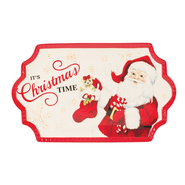 Letters to Santa Cookie Platter by Fitz and Floyd